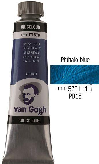 Van GOGH Oil - Маслена боя 40мл - Фтало синя / 570