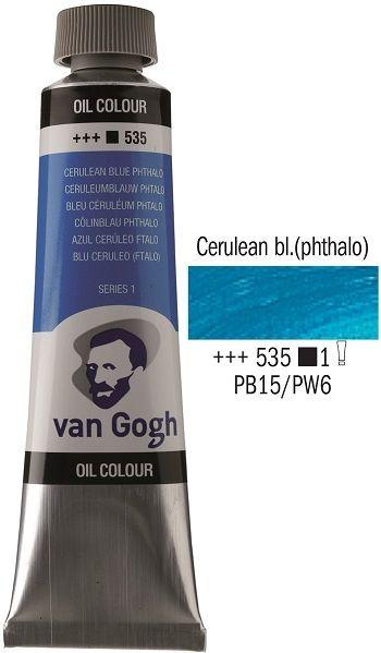Van GOGH Oil - Маслена боя 40мл - Церулиан фтало синя / 535