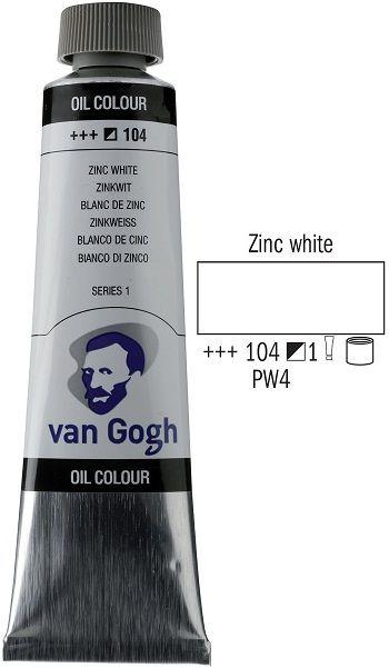 Van GOGH Oil - Маслена боя 40мл - Цинк бяла / 104