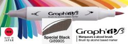 # GRAPH IT BRUSH MARKER - Двувърх дизайн маркери ЧЕТКА - SPECIAL BLACK