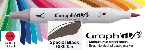 # GRAPH IT BRUSH MARKER - Двувърх дизайн маркери ЧЕТКА - SPECIAL BLACK