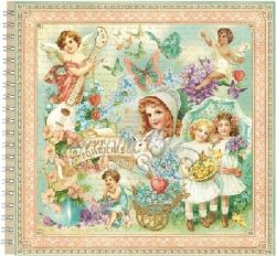 "ALBUM SCRAPBOOKING ""Sweet Sentiments"" - Дизайнерски скрапбукинг албум 36 страници 30,5х30,5 см"