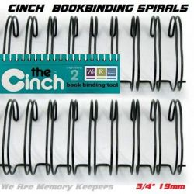 """CINCH WIRE BINDING SPIRALS - Двойни спирали за подвързване  3/4"""" 19мм  / 10бр ЧЕРНИ"""