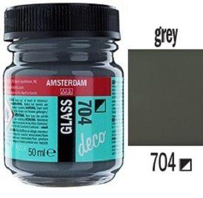 Decorfin Glass, TALENS - Витражна боя от най-високо качество, 50 мл. - Плътно Сиво