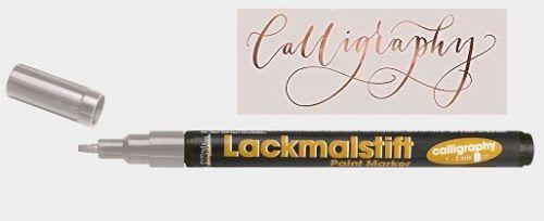 CALLIGRAPHY  MARKER  1-3mm  -  Лаков маркер  SILVER