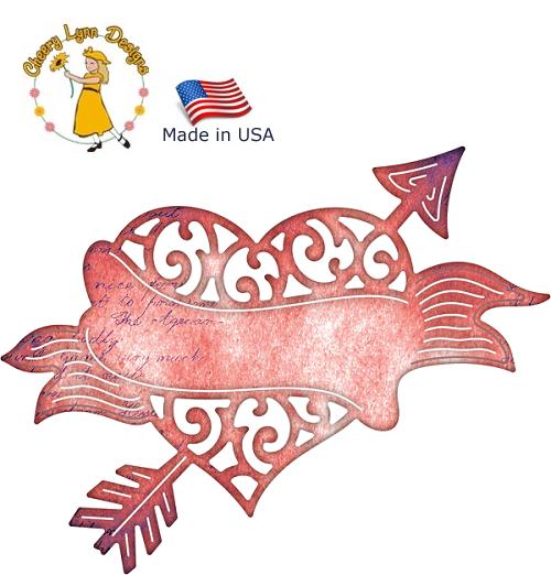 HEART by Cheery Lynn ,USA - Шаблон за рязане и ембос B530