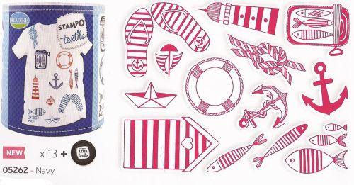 ALADINE STAMPO TEXTILE - Комплект печати+тампон за текстил 05262