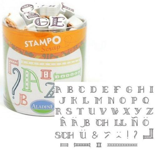 ALADINE STAMPO Scrap - Комплект гумени печати 03719