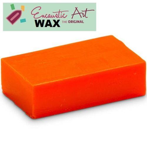 Encaustic WAX - Блокче цветен восък за Енкаустика № 38 NEON ORANGE