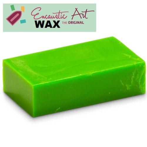 Encaustic WAX - Блокче цветен восък за Енкаустика № 40 NEON GREEN