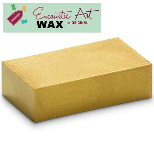 Encaustic WAX - Блокче цветен восък за Енкаустика № 25 GOLD