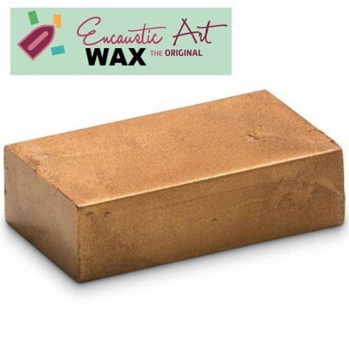 Encaustic WAX - Блокче цветен восък за Енкаустика № 28 BRONZE