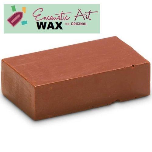 Encaustic WAX - Блокче цветен восък за Енкаустика № 14 YELLOW BROWN