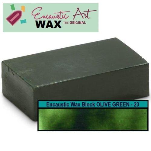 Encaustic WAX - Блокче цветен восък за Енкаустика № 23 OLIVE GREEN