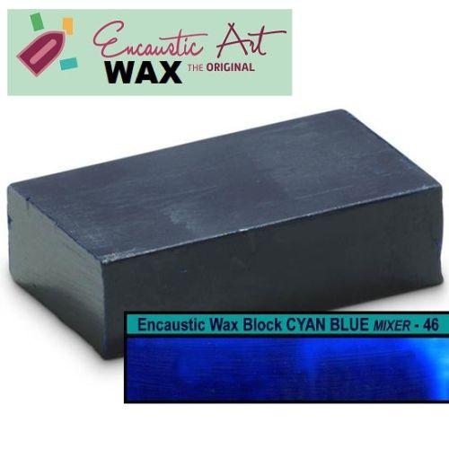 Encaustic WAX - Блокче цветен восък за Енкаустика  № 46 CYAN BLUE