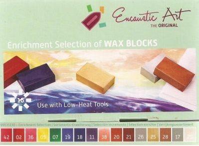 Encaustic ART WAX SET- Комплект 16 цв. восък за Енкаустика ENRICHMENT SET