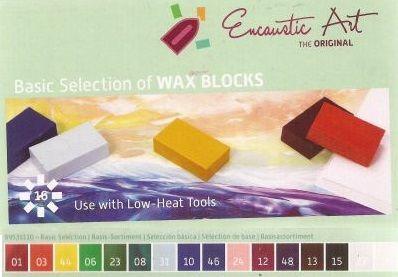 Encaustic ART WAX SET - Комплект 16 цв. восък за Енкаустика BASIC SET