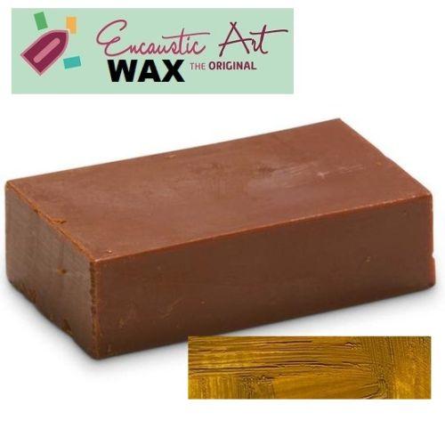Encaustic WAX - Блокче цветен восък за Енкаустика № 20  YELLOW OCHRE