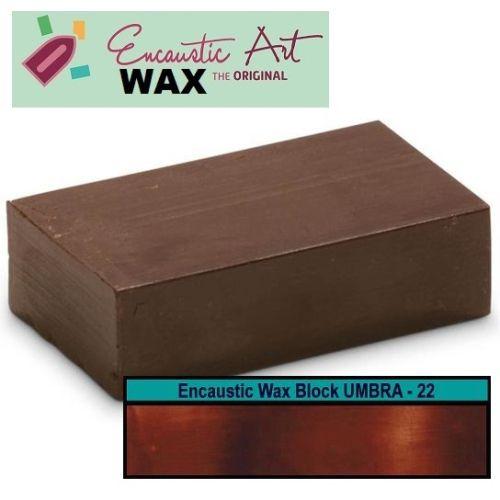 Encaustic WAX - Блокче цветен восък за Енкаустика № 22 UMBER
