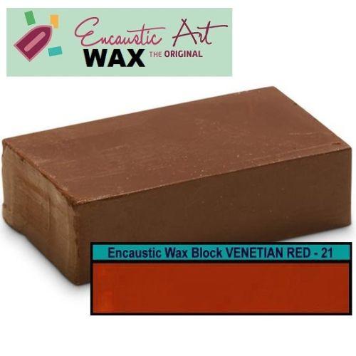 Encaustic WAX - Блокче цветен восък за Енкаустика № 21  VENETIAN RED