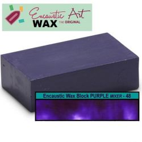Encaustic WAX - Блокче цветен восък за Енкаустика №48  PURPLE