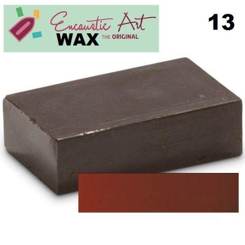 Encaustic WAX - Блокче цветен восък за Енкаустика № 13 RUST BROWN