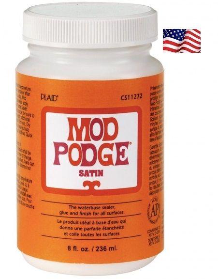 """MOD PODGE SATIN, USA - ЛАК / лепило за колажи """"САТЕН"""" 236 мл."""