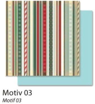 FB Christmas 03 - Дизайнерски картон с ембос-глитер елементи - 30,5 Х 30,5 см.