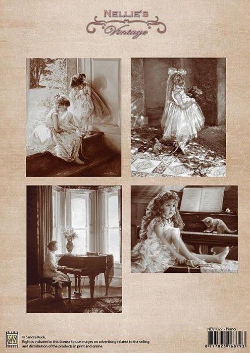 A4 DECOUPAGE Vintage  - АРТ декупажна хартия / 027