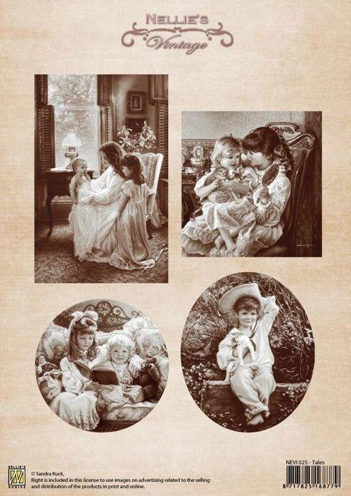 A4 DECOUPAGE Vintage  - АРТ декупажна хартия / 025