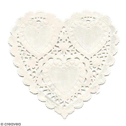 Paper Frames PD008 (12 pcs) 10 cm heart