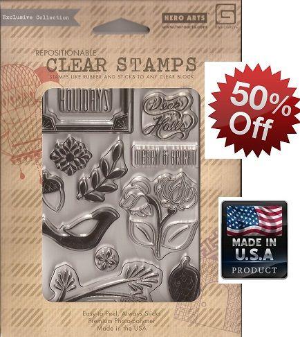 HERO ARTS stamps 4X6 inch - Дизайнерски POLYCLEAR печати