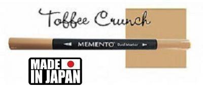 MEMENTO BRUSH MARKER , Japan - Двувърх маркер ЧЕТКА - TOFFEE CRUNCH
