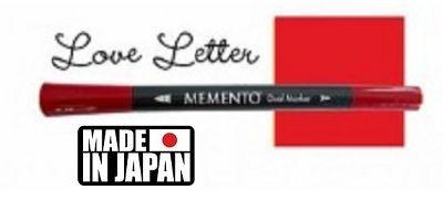 MEMENTO BRUSH MARKER , Japan - Двувърх маркер ЧЕТКА - LOVE LETTER
