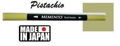 MEMENTO BRUSH MARKER , Japan - Двувърх маркер ЧЕТКА - PISTACHIO