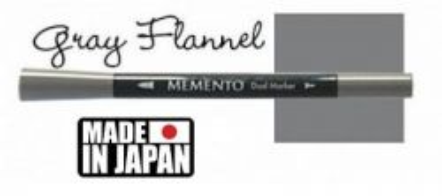 MEMENTO BRUSH MARKER , Japan - Двувърх маркер ЧЕТКА - GRAY FLANNEL