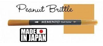 MEMENTO BRUSH MARKER , Japan - Двувърх маркер ЧЕТКА - PEANUT BRITTLE
