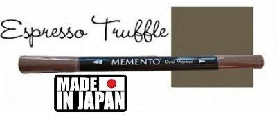 MEMENTO BRUSH MARKER , Japan - Двувърх маркер ЧЕТКА - ESPRESSO TRUFFLE