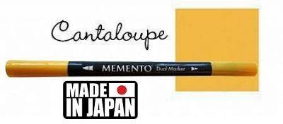 MEMENTO BRUSH MARKER , Japan - Двувърх маркер ЧЕТКА - CANTALOUPE