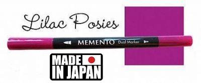 MEMENTO BRUSH MARKER , Japan - Двувърх маркер ЧЕТКА - LILAC POSIES