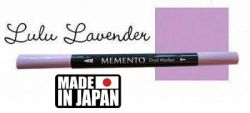 MEMENTO BRUSH MARKER , Japan - Двувърх маркер ЧЕТКА - LULU LAVENDER