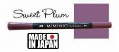 MEMENTO BRUSH MARKER , Japan - Двувърх маркер ЧЕТКА - SWEET PLUM