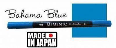 MEMENTO BRUSH MARKER , Japan - Двувърх маркер ЧЕТКА - BAHAMA BLUE