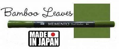 MEMENTO BRUSH MARKER , Japan - Двувърх маркер ЧЕТКА - BAMBOO LEAVES