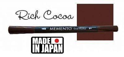 MEMENTO BRUSH MARKER , Japan - Двувърх маркер ЧЕТКА - RICH COCOA