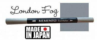 MEMENTO BRUSH MARKER , Japan - Двувърх маркер ЧЕТКА - LONDON FOG