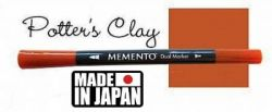 MEMENTO BRUSH MARKER , Japan - Двувърх маркер ЧЕТКА - POTTERS CLAY