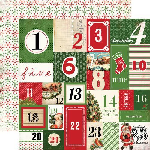 CARTA BELLA  USA , BIRTHDAY BANNER - Дизайнерски скрапбукинг картон 30,5 х 30,5 см.