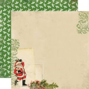 CARTA BELLA USA # CHRISTMAS TIME - Дизайнерски скрапбукинг картон 30,5 х 30,5 см.