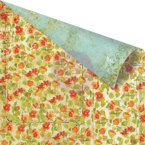 PRIMA USA # BELLA ROUGE  - Дизайнерски скрапбукинг картон 30,5 х 30,5 см.